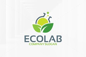 Eco Lab Logo Template