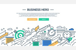 Business Hero Webdesign Banner