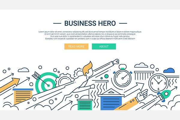 Business Hero Webdesign Banner