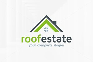 Roof Estate Logo Template