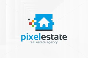 Pixel Estate Logo Template