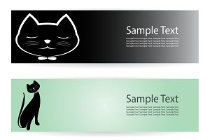 Vector image of an cat banners .
