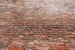 Textured brick wall in Venice, Italy