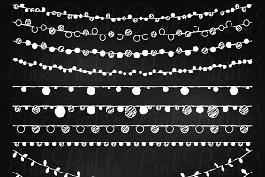 Chalkboard Lights Clipart and Vector