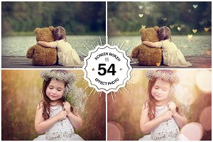 54 Natural Bokeh Photoshop Overlays