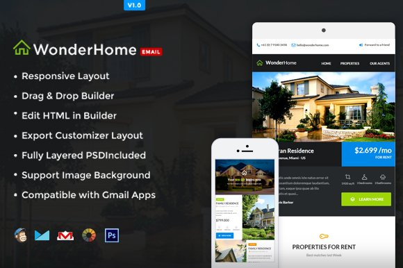 real estate e newsletter builder email templates creative market