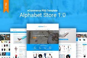 AlphabetStore eCommerce PSD Template