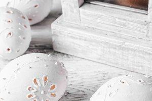 decor carved eggs