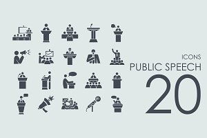 20 Public Speech icons