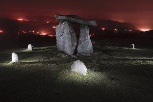 Dolmen in the night