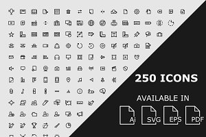 250 Editor User Interface icons