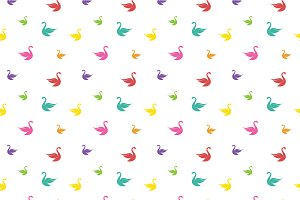 Vector seamless pattern with swan