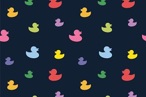 Duck vector art background design