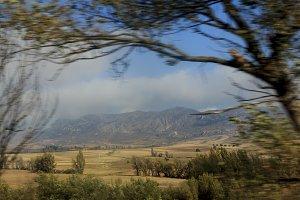 Motion blur landscape
