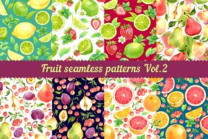 Fruit seamless patterns Vol. 2