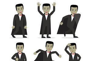 Dracula vampire cartoon character