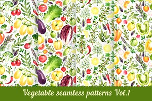 Vegetable seamless patterns Vol. 1