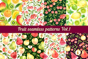 Fruit seamless patterns Vol. 1
