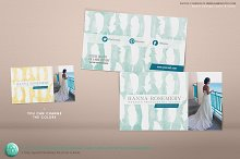 Business Card 3.5x2 Feathers PSD