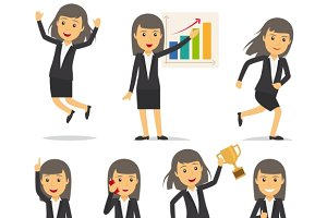 Businesswoman character vector