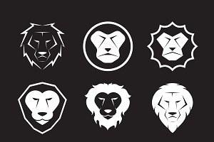 Vector group of an lion head design