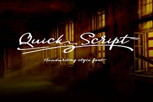 Quick Script Typeface