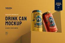 Drink Can Mockup Set