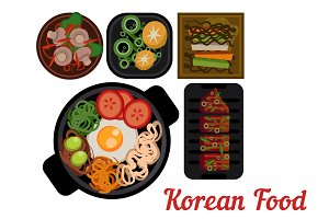 Korean food Vector icon