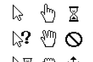 Pixel Mouse cursors