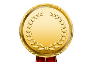 Award Medal Rosette Label