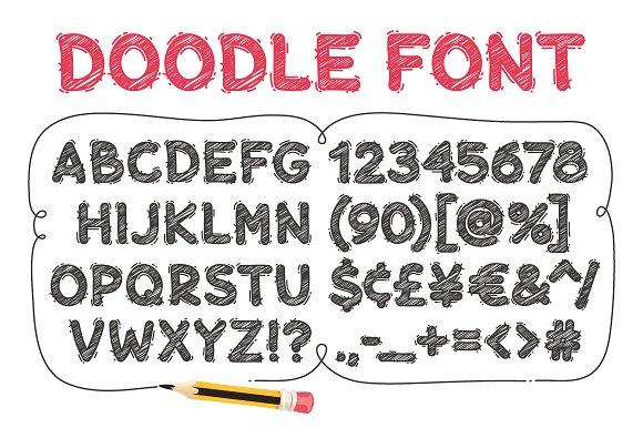 Cartoon Doodle Font