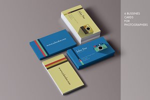 6 Business Cards for Photographers