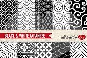 Japan Seamless Black White Patterns