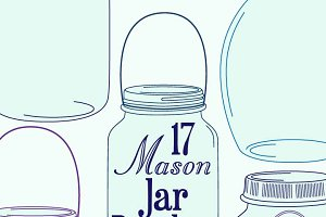 Mason Jars Photoshop Brushes