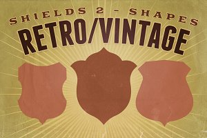 Retro/Vintage shapes - Shields 2