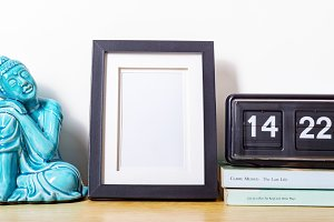 A small black picture frame