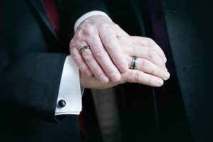married gay couple, hands with rings