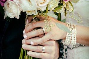 wedding flowers, wearing rings #1