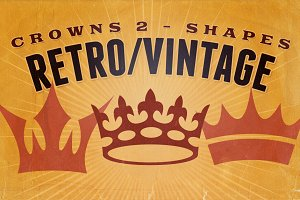 Retro/Vintage shapes - Crowns 2