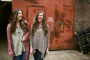 Ladies Laughing in Abandoned Area