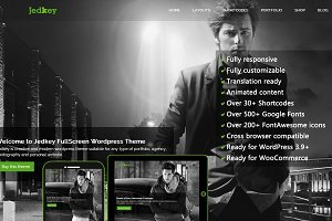 Jedkey - FullScreen WordPress Theme