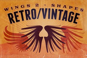 Retro/Vintage shapes - Wings 2