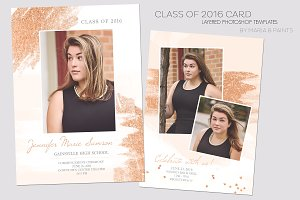 Senior Announcement Card Template