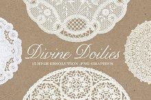 Vintage Divine Doily Graphics