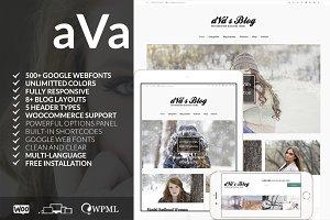 Ava - Minimal Responsive Blog Theme