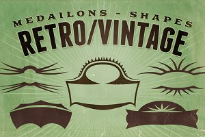 Retro/Vintage shapes - Medailons