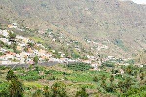 Valley of Hermigua, La Gomera.