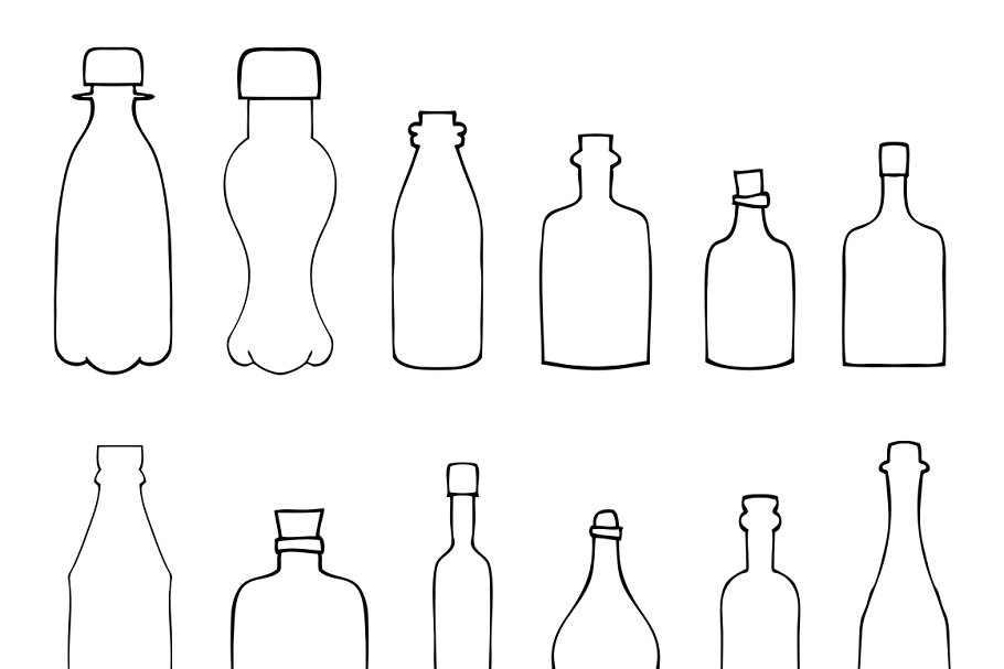 Bottles in Illustrations - product preview 8