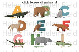 ZOO animals Alphabet. Click image!