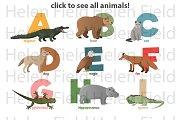 ZOO animals Alphabet. Click image!